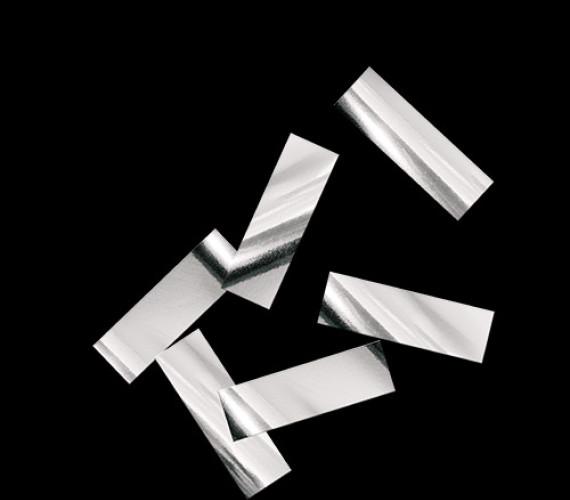 Конфетти металлизированное 17х55мм серебро