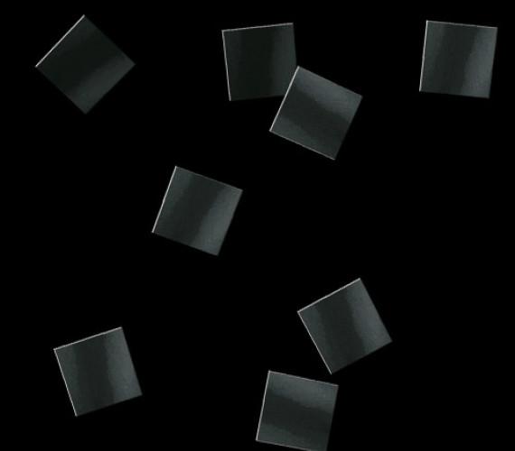 Конфетти бумажное 10х10мм черное