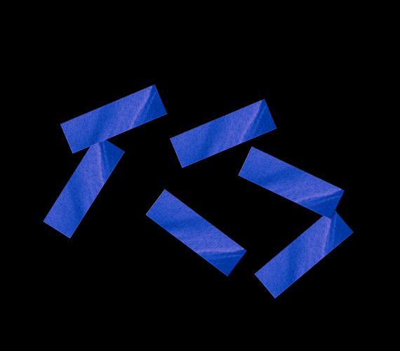 Конфетти бумажное 17х55мм синее