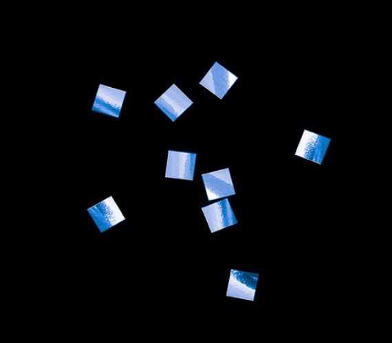 Конфетти металлизированное 6х6мм синее