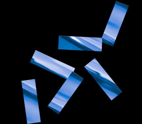 Конфетти металлизированное 17х55мм синее