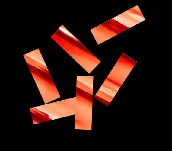 Конфетти металлизированное 17х55мм красное