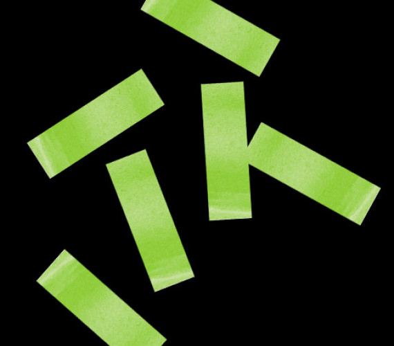 Конфетти бумажное 17х55мм светло-зеленое