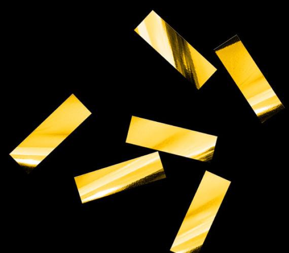 Конфетти металлизированное 17х55мм золото