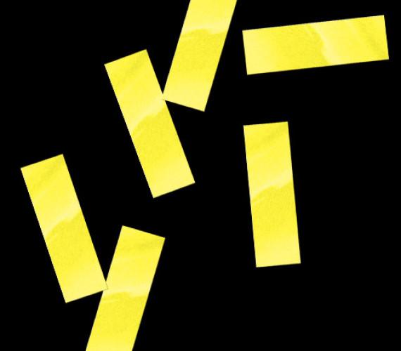 Конфетти бумажное 17х55мм желтое