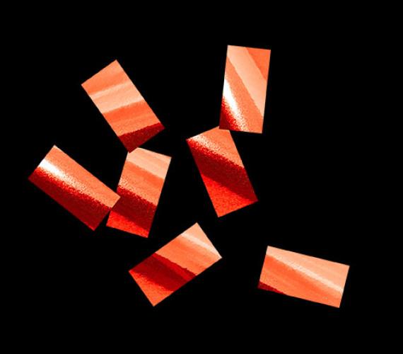 Конфетти металлизированное 10х20мм красное