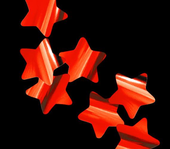 Конфетти металлизированное Звезды красные