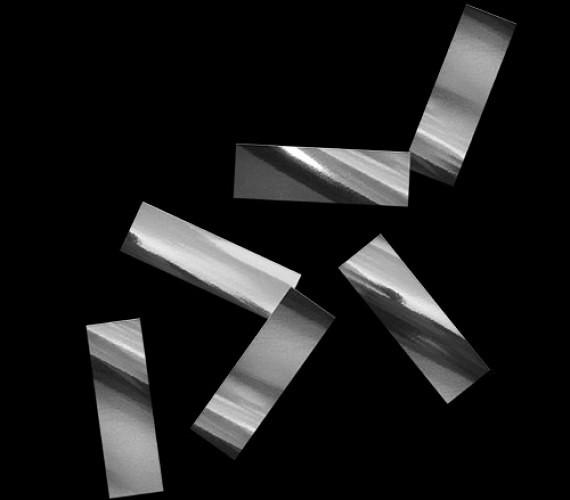 Конфетти металлизированное 17х55мм черное