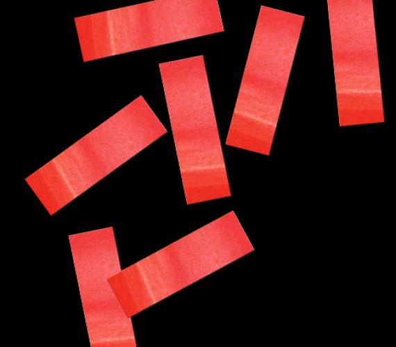 Конфетти бумажное 17х55мм красное