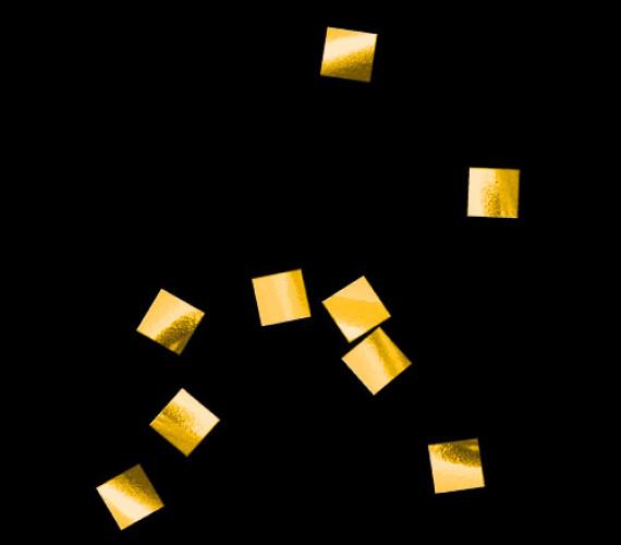 Конфетти металлизированное 6х6мм золото