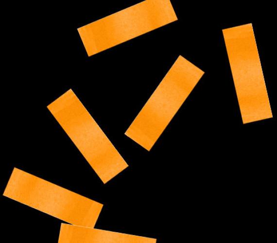 Конфетти бумажное 17х55мм оранжевое