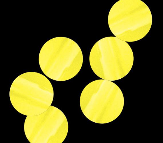 Конфетти бумажное Круги желтые
