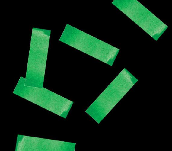 Конфетти бумажное 17х55мм темно-зеленое