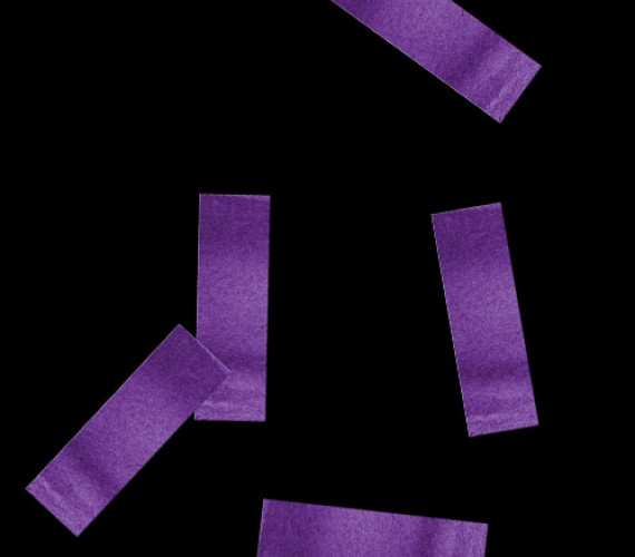 Конфетти бумажное 17х55мм фиолетовое