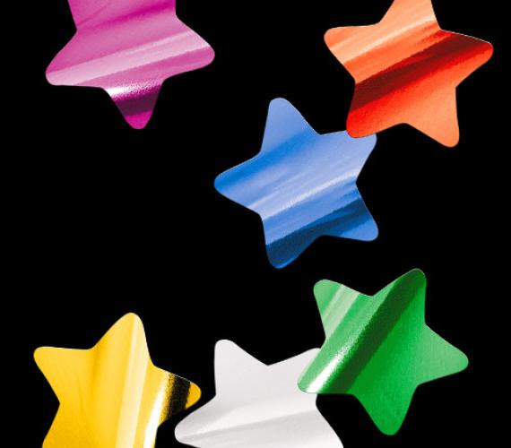 Конфетти металлизированное Звезды мульти
