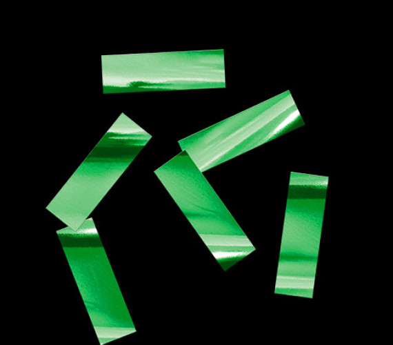 Конфетти металлизированное 17х55мм зеленое