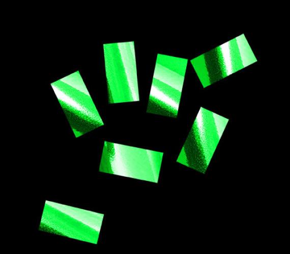Конфетти металлизированное 10х20мм зеленое
