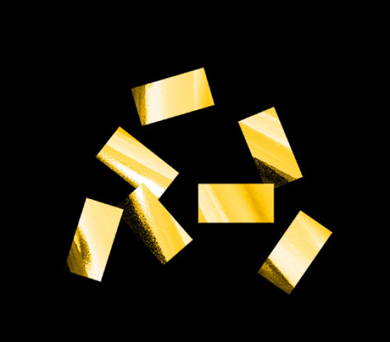 Конфетти металлизированное 10х20мм золото