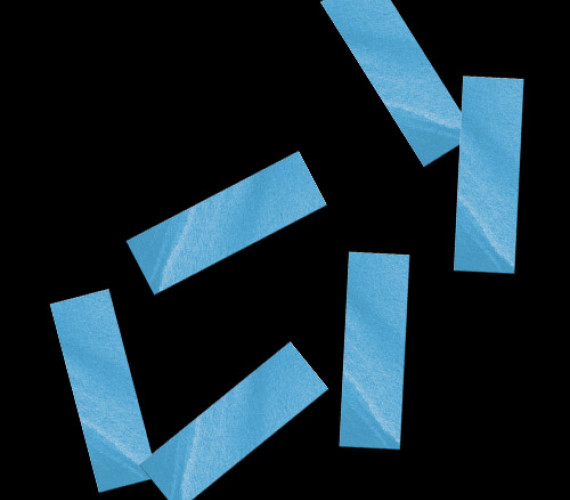 Конфетти бумажное 17х55мм голубое