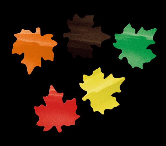 Бумажное конфетти Кленовые листья 4см мульти, 50гр
